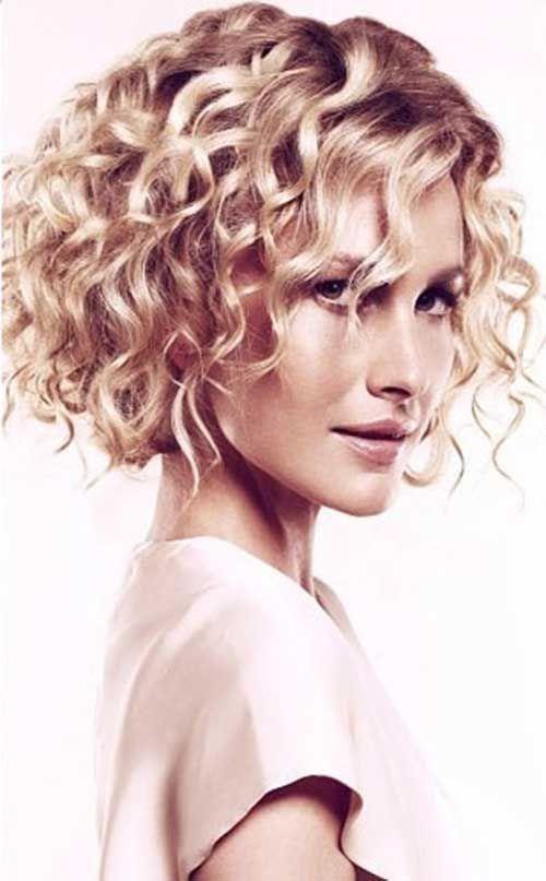 Kısa Kıvırcık Saç Modelleri