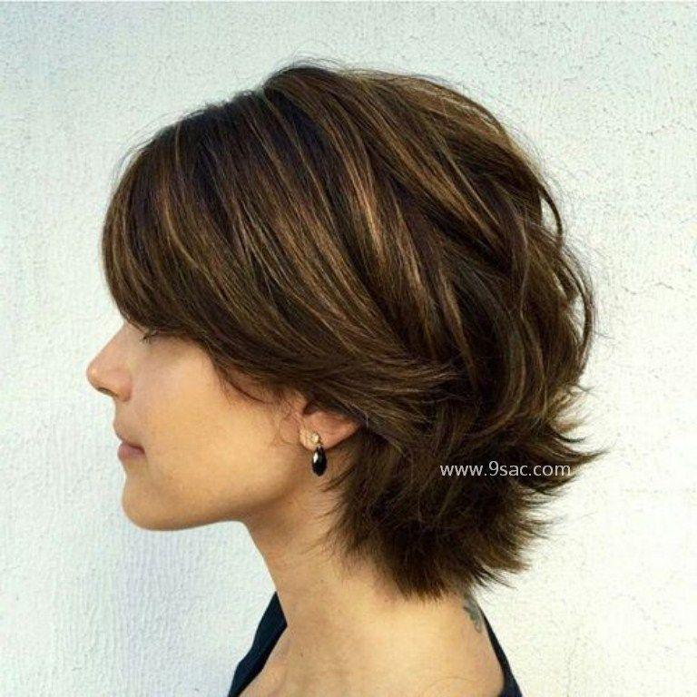 Kısa Katlı Saç Kesim Modelleri
