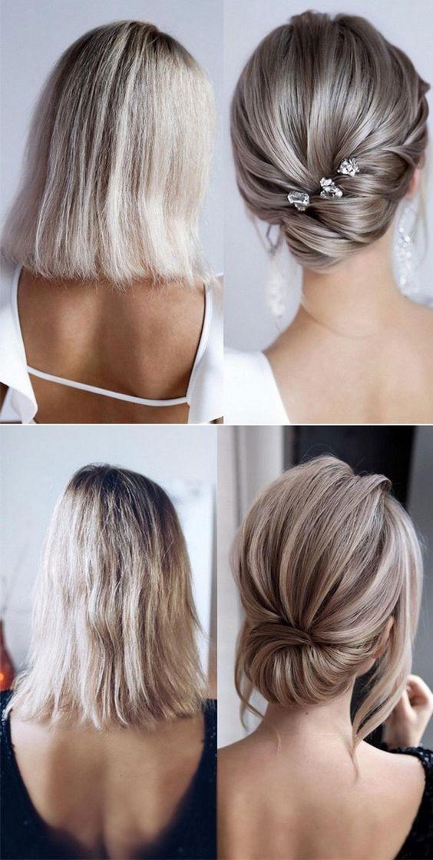 Kısa Saç Düğün Modelleri