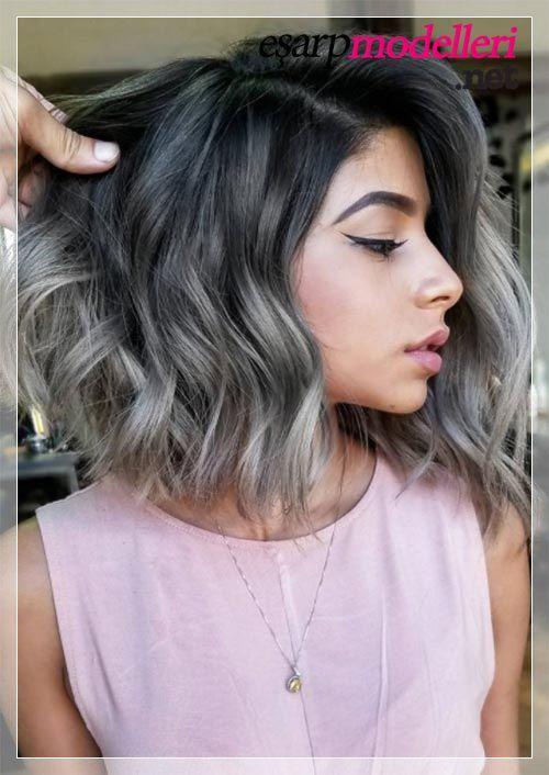 Kısa Saç Gri Ombre