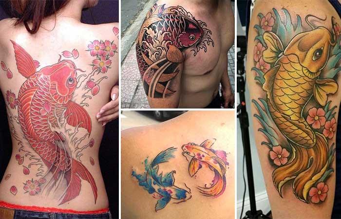 Koi Balığı Dövme Modelleri