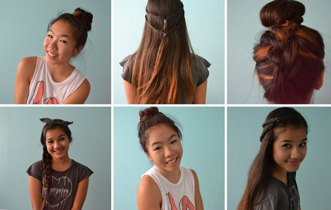 Okula Giderken Yapılabilecek Kolay Saç Modelleri Kısa Saçlar Için