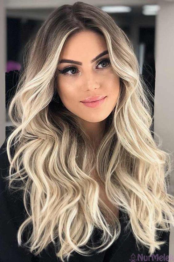 Ombre Saç Modelleri Sarı