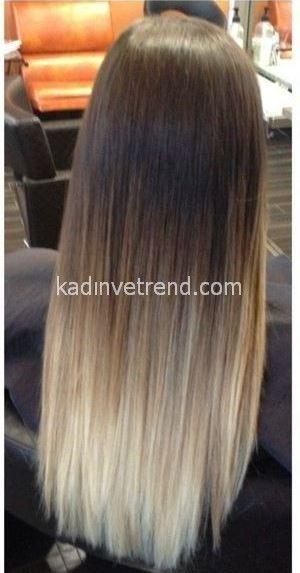 Uçları Sarı Saç Modelleri