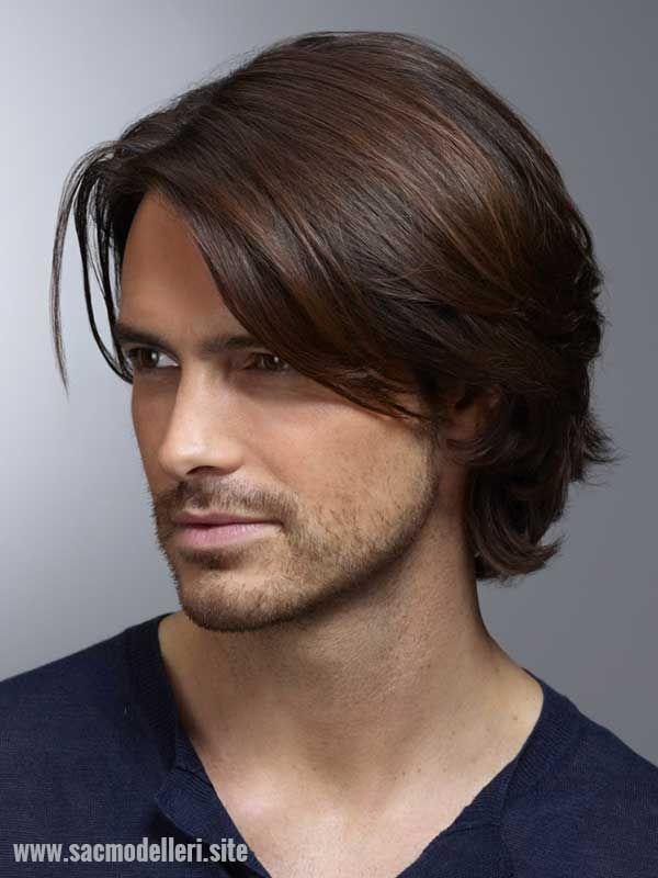 Uzun Düz Saç Modelleri Erkek