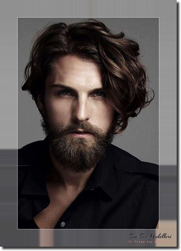 Uzun Dalgalı Saç Modelleri Erkek