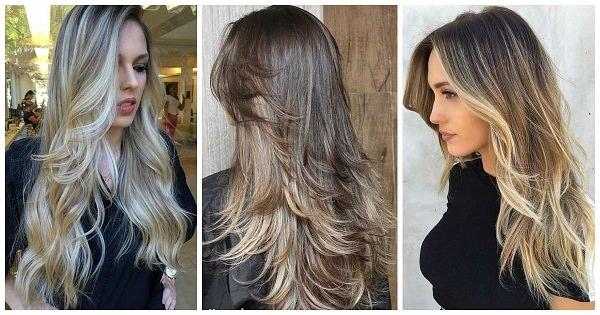 Uzun Katlı Saç Kesimi
